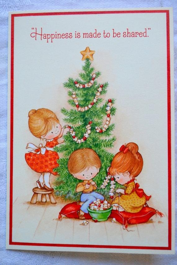 Vintage Christmas Card Hallmark Christmas Children | Etsy