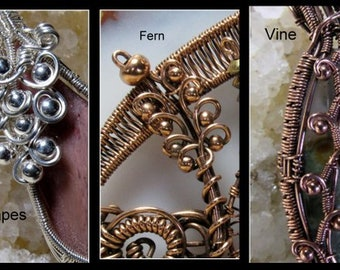 THREE tutorials in ONE packet, Wire Work Embellishments. Evergreen Trees and Expanded Version.