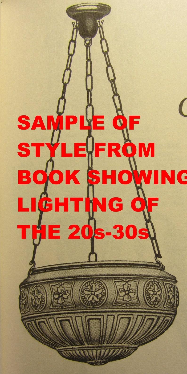 Art Deco Step Bowl Ceiling Pendant with Original Hooks