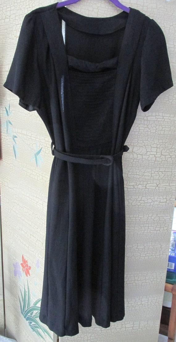 Vintage 30s - 40s Navy Blue Dress
