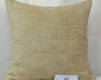 "Gold Chenille Cushion Cover 17"" x 17"""