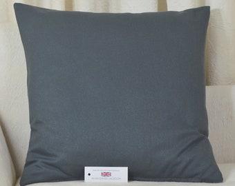"Cotton Blend Cushion Cover 20"" x 20"" (51cm x 51cm) Charcoal Grey"