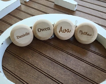 Personalized Engraved Kids Wood YoYo