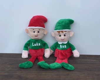 Personalized Plush Christmas Elf Girl Boy Custom Stuffed