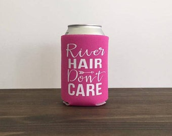River Hair Don't Care Can Cooler Drink Holder Summer 17 Colors Bottle Vacation