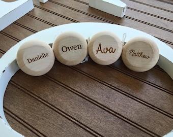 Personalized Engraved Kids Wood YoYo