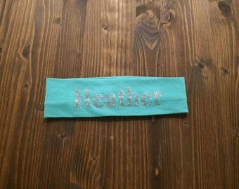 PRINT cotton knit headband custom-12 Colors