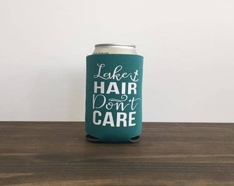 Lake Hair Don't Care Can Bottle Cooler Summer Drink Holder 17 colors Vacation