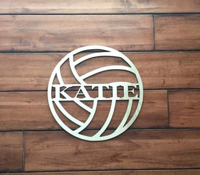 24 Wood Volleyball Last Name Team Name Laser Cutout Sport Shape Unfinished