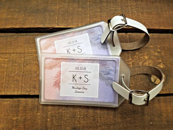 Destination Wedding Favors Luggage Tags For Destination Etsy