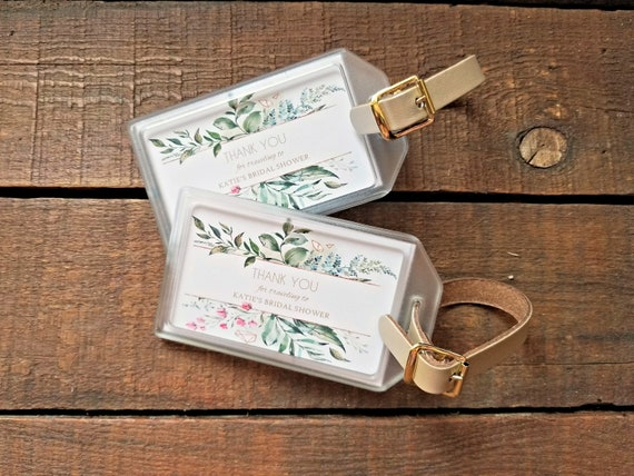 2d368902226 Bridal Shower Luggage Tag Favors Baby Shower Luggage Tag