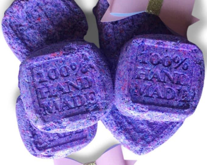 Lavendar Infused Sleepy Time Bath Bombs - Personalized to any color for added bath time fun! Bath Fizzy Bombs.