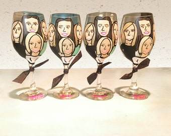 Make Yourself a Cartoon or Charicature Wine Glass! Funny Gifts for Wine Lovers!