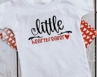 Little Heartbreaker Kids Graphic Valentines T Shirt