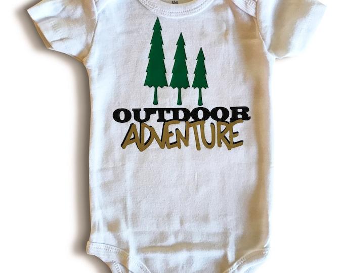Outdoor Adventure Onsie - Camping onsies- Nature Baby
