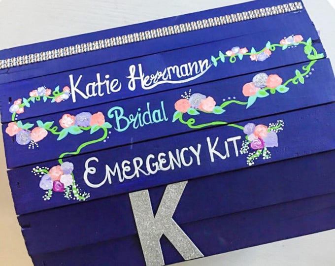 Bridal Emergency Kit - Keepsake Box - Gifts for the Bride - Bridal Shower Gifts
