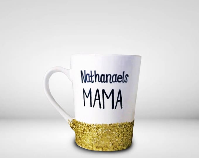 Gifts from Children - Mommys Sippy Cup - Mommys Coffee Mug - Personalized gifts for mom from the littles that are glitter dipped.