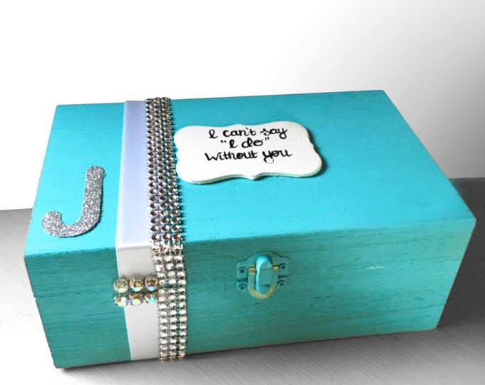 Will you be my Bridesmaid and Maid of Honor Personalized Boxes. Bridal Party and Bridesmaid Gifts.