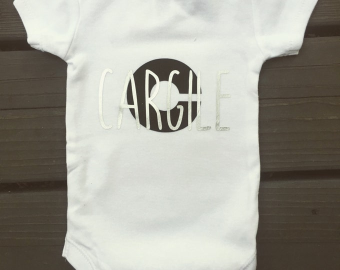 Monogram Unisex BABY Onsie - Unisex BabyShower gifts- Onsies for babys - Personalized Baby Tops.