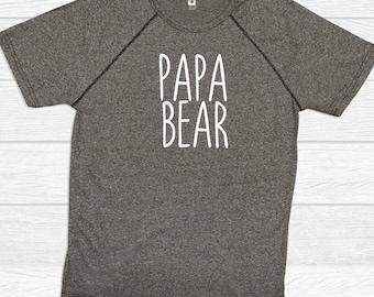 Papa Bear Fitness T Shirts - Dad Shirts - Grandpa Shirts