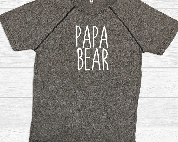 Papa Bear Fitness T Shirts - Dad Shirts - Grandpa Shirts
