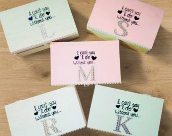 Will you be my bridesmaid box. Monogram Bridesmaid Gifts. Personalized Bridal Partt Gifts!