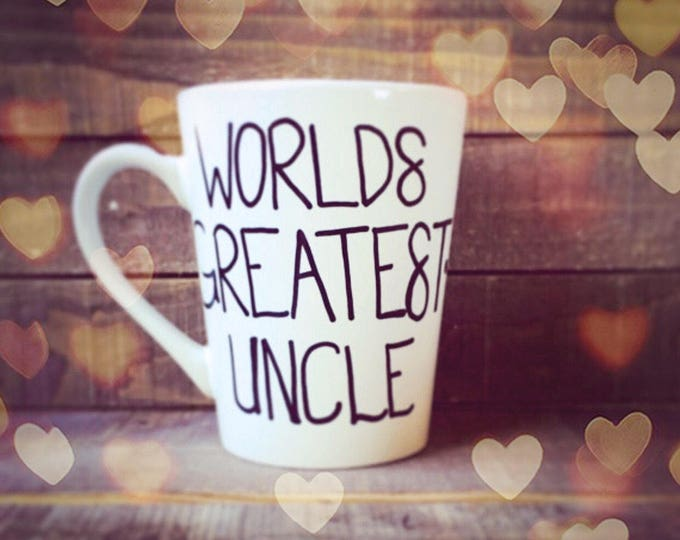 Worlds Greatest Uncle - Coffee Mug Gift Sets for Uncles! Personalized Coffee Mugs.
