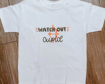 Watch Out Cupid - Valentines T Shirt for Boys