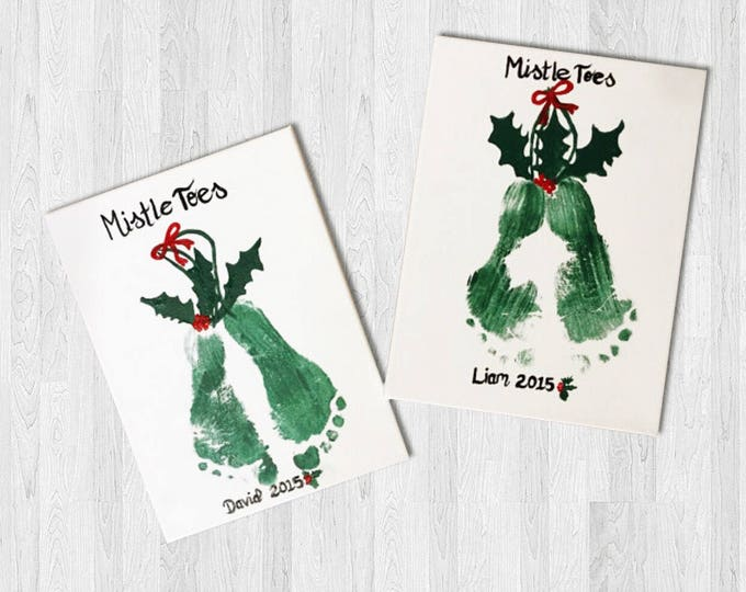 MistleToes Canvas Craft Kit - Great Christmas Presents for those tiny toes and fingers! Gifts from Grandkids handmade!