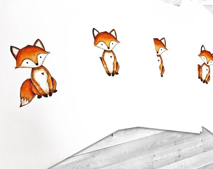 Woodland Themed Baby Shower Invitations - Fox Invitations