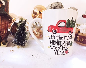 Its the most wonderful time of the year - christmas coffee mug