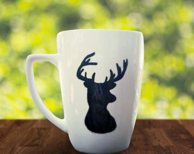 Buck Coffee Mug - Gifts for Dad - Deer Coffee Mugs - Country Living coffee mugs - Deer, Doe, Buck, Antlers