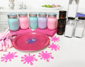 Colorful Slime Party Kit - Slime DIY Station - Slime Party Favors