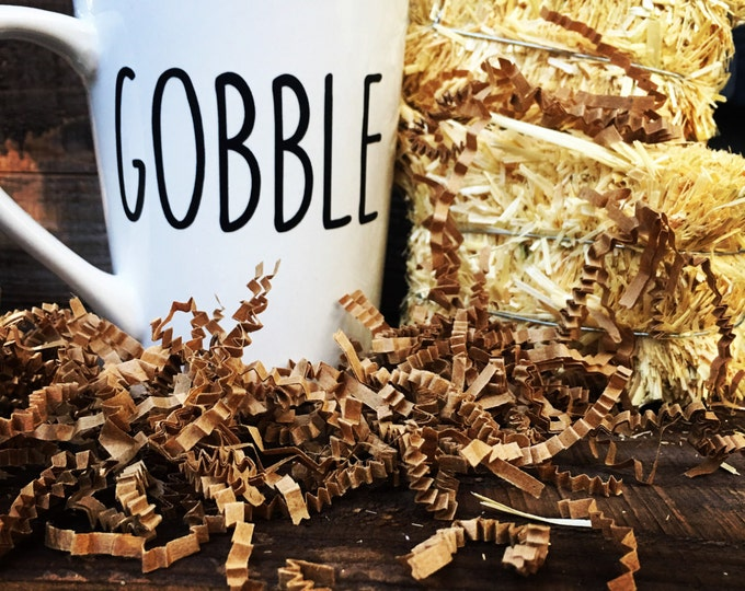 Gobble - Thanksgiving Coffee Mugs - Be Thankful - Harvest - Gobble til you wobble coffee mugs.