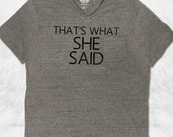 Thats What She Said - Engagement Shirts - I put a ring on it -Mens Workout shirts - engagement gifts