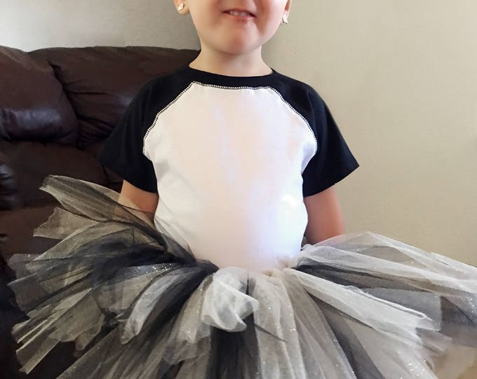 Black and Gold Tutu - Dress and Dance Tulle Personalized Tutus -