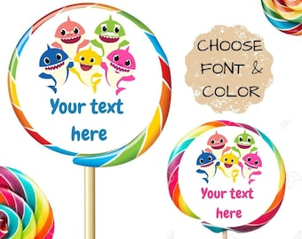 """2/"""" MICKEY MOUSE BIRTHDAY LOLLIPOP ROUND PARTY STICKERS FAVORS 1.5/"""" 2.5/"""""""