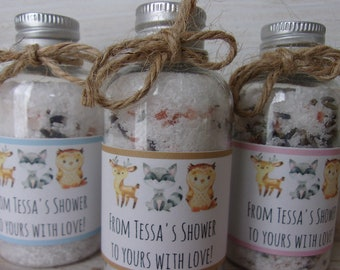 Bath Salt Favors Woodland Bath Salt Baby Shower Favor Lavender Bath Salts Bath Soak Favor Baby Shower Favors Bath Salts Lavender Bath Soak