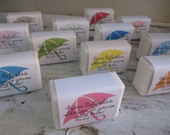 Baby Shower Favors Soap Umbrella Theme Baby Shower Soap Favors Organic Soap Baby Shower Favor Soap Baby Soap Favors Umbrella Soap Favor