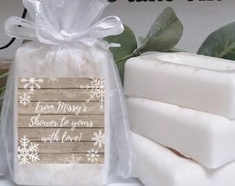 Winter Baby Shower Mini Soap Favors Winter Bridal Shower Etsy