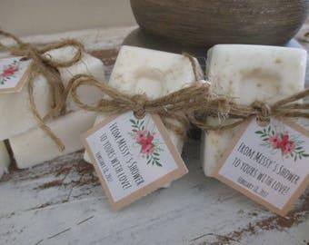 Rustic Baby Shower Favors Soap Simple Floral Organic Favor
