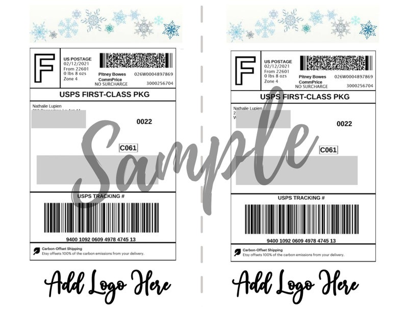 Personalized Shipping Labels Etsy Shop Shipping Labels PDF Instant editable Custom Etsy Shipping Label Template Custom Shipping Labels