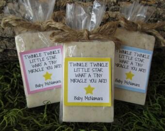 Baby Shower Favors Soap Twinkle Little Star Baby Shower Soap Favors Organic Soap Baby Shower Favor Soap Baby Soap Favors Star Soap Favor
