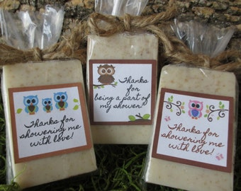 Owl Woodland Baby Shower Favors Soap Owl Baby Shower Soap Favors Organic Soap Baby Shower Favor Soap Baby Soap Favors Owls Soap Favor