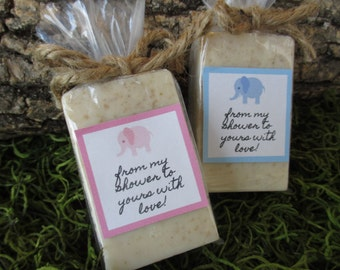 Elephant Baby Shower Favors Soap Elephant Theme Baby Shower Soap Favors Organic Soap Baby Shower Favor Soap Baby Soap Favors Soap Favor