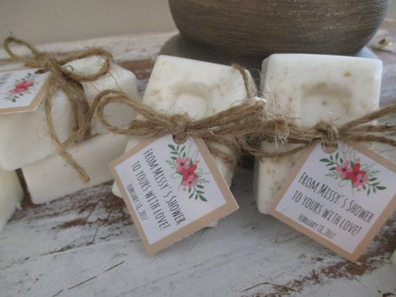 Rustic Baby Shower Favors Soap Simple Floral Baby Shower Soap Etsy