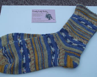 Hand Cranked fair isle effect socks