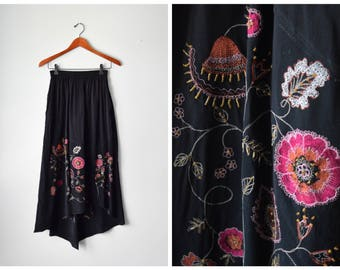Vintage bead-embroidered skirt   XS/S