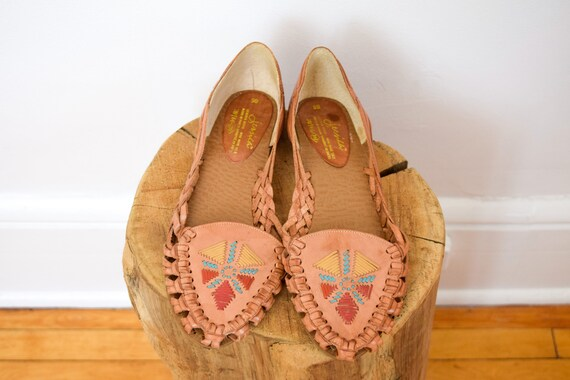 embroidered leather huaraches | 9