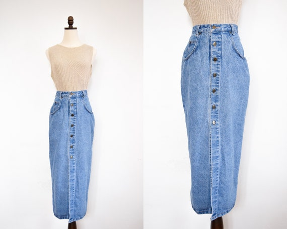 button front denim skirt | 26 - image 1